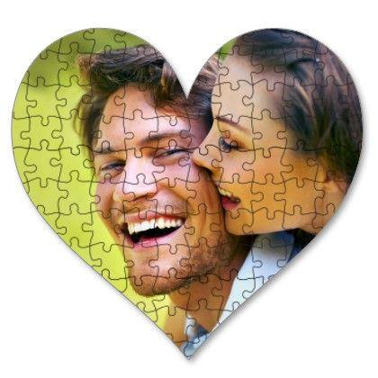 Puzzle srce sa stampom